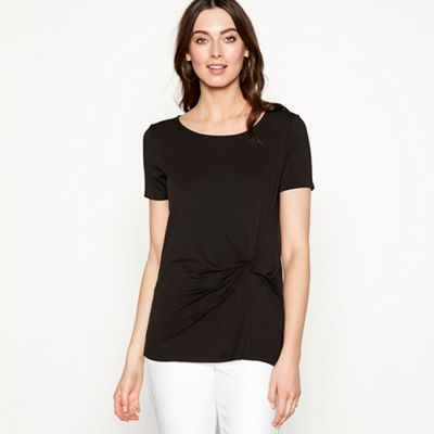 The Collection Black Tie Front Jersey T-Shirt
