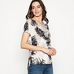 The Collection - Natural palm print jersey t-shirt