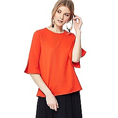 The Collection - Red textured flute sleeve top