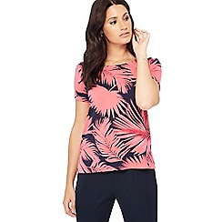 The Collection - Pink palm print t-shirt
