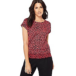 The Collection - Pink leopard print t-shirt