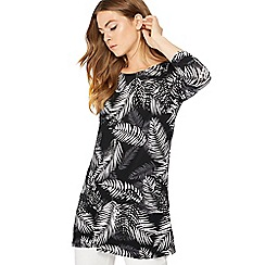 The Collection - Black palm print tunic top