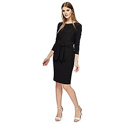 The Collection - Black plus size knee length dress