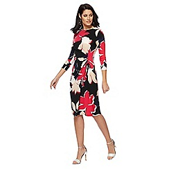 The Collection - Multi-coloured floral print midi dress