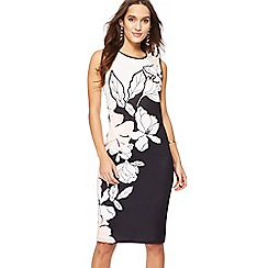 The Collection - Black floral print scuba dress