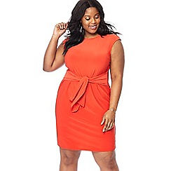 The Collection - Red knee length plus size dress