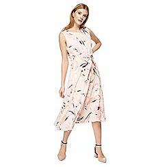 The Collection - Light pink floral print midi dress