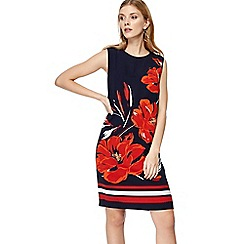 The Collection - Navy floral print knee length shift dress