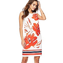 The Collection - Ivory floral print knee length shift dress