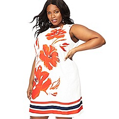 The Collection - Ivory floral print shift dress