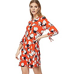 The Collection - Dark orange floral print jersey 'Bette' mini dress