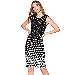 The Collection - Black spotted knee length dress