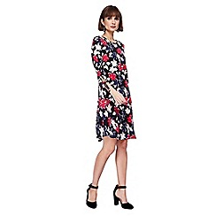 The Collection - Multi-coloured floral print knee length dress