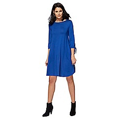 The Collection - Blue jersey mini plus size dress