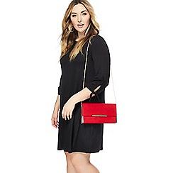 The Collection - Black jersey plus size mini dress