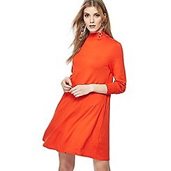 The Collection - Red jersey high neck long sleeve dress