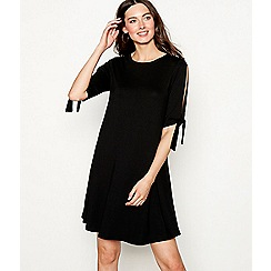 The Collection - Black tie sleeve mini length dress