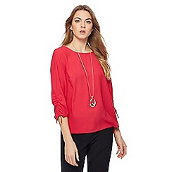 The Collection - Pink drawcord sleeves top