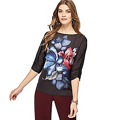 The Collection - Black floral print top