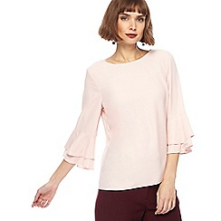 The Collection - Light pink fluted sleeves top