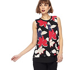 The Collection - Multi-coloured floral print layered top