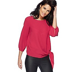 The Collection - Bright pink tie detail bubble top
