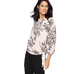 The Collection - Light pink floral tie detail bubble top