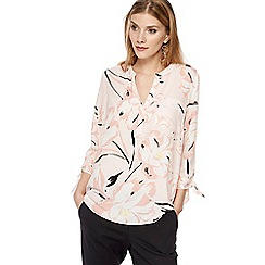 The Collection - Light pink floral print shirt