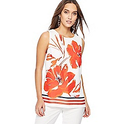 The Collection - Ivory floral print sleeveless top