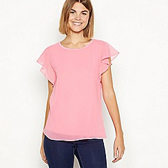 The Collection - Pink angel sleeves chiffon top
