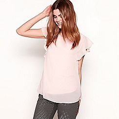 The Collection - Pinkshort angel sleeves top