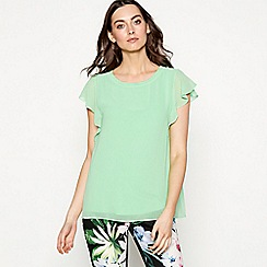 The Collection - Green short angel sleeve top