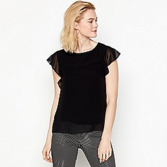 The Collection - Blackshort angel sleeves top