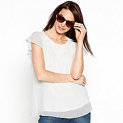 The Collection - Ivoryshort angel sleeves top
