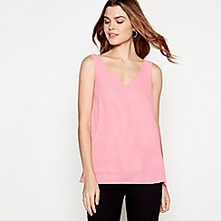 The Collection - Pink chiffon V-neck vest top