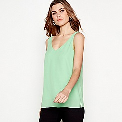 The Collection - Green chiffon V-neck vest top
