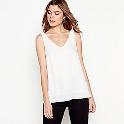 The Collection - Ivory chiffon V-neck vest top