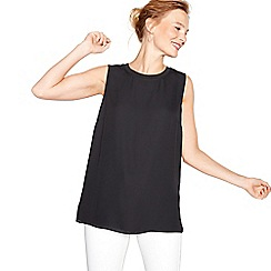 The Collection - Black chiffon sleeveless shell top