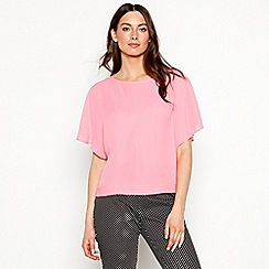 The Collection - Bright pink kimono chiffon short sleeve top