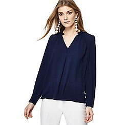 The Collection - Navy long sleeve blouse