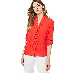 The Collection - Red tie front blouse