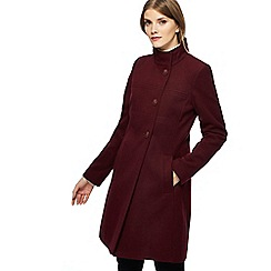 The Collection - Dark red seamed coat
