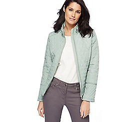 The Collection - Light turquoise quilted jacket