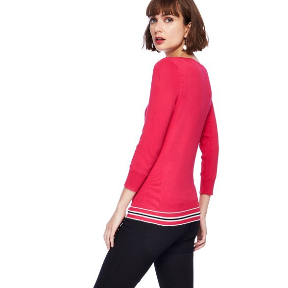 The zip Collection shoulder jumper tipped Pink aEraPR6xwq