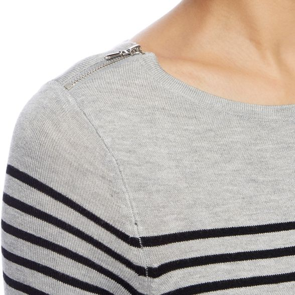 striped jumper Collection The Grey shoulder zip O7qE8pR