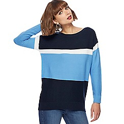 The Collection - Navy colour block jumper