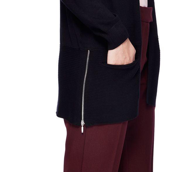 The edge Collection cardigan Black zip to edge CwTxq7Ca