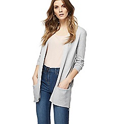 The Collection - Grey edge to edge zip cardigan