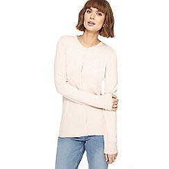 The Collection - Pale pink crew neck cardigan