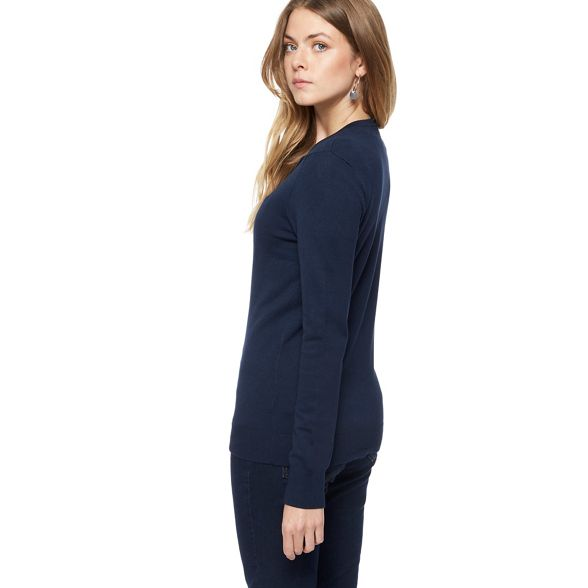 crew The Navy neck Collection cardigan B68qPaxn